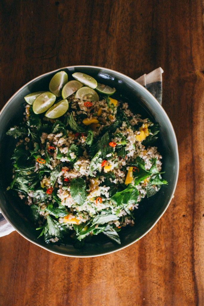 Flavors of Bali: Mango Chili Rice Salad from www.happyolks.com