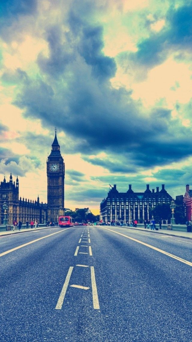 London Big Ben Road United Kingdom #iPhone #5s #Wallpaper   Click the address to download more :http://www.ilikewallpaper.net/iphone-5-wallpaper/