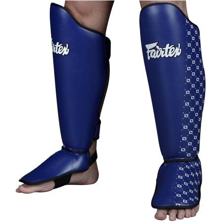 Fairtex Traditional Muay Thai Shin Guards, Size: Medium, Blue