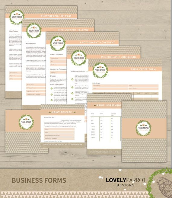 19 best Photographer Forms images on Pinterest Photography - business forms templates