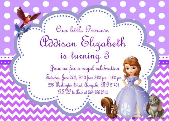 Sofia The First Party Invitations correctly perfect ideas for your invitation layout
