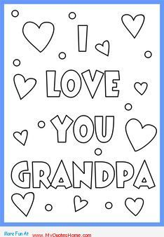 Happy Fathers Day Grandpa Coloring Pages - pics for > i love ...