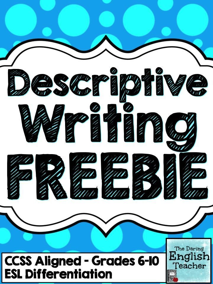 teach descriptive writing With no core 'text' for students to engage with – except by teaching gcse  a great way to make skills such as descriptive writing and structural analysis more.