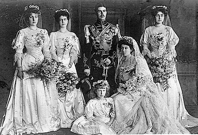 1905 Wedding photograph of Princess Margaret of Connaught and Prince Gustav Adolph of Sweden