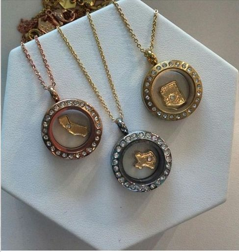 Featuring Mini Living Lockets from Origami Owl.  State Charms $5  Introduced Fall 2014 our Top 10 states - number of Designers and sales  Yay Georgia!  melissamccullough.origamiowl.com #melissalockets