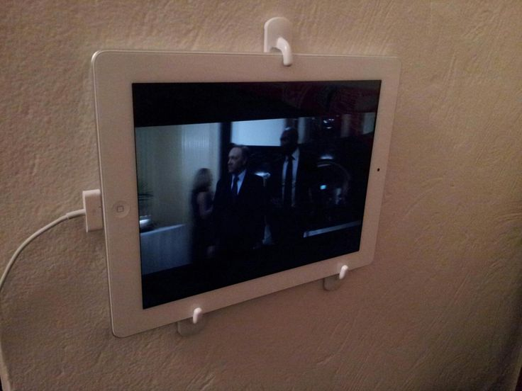 Your arms ever get tired or you just want to watch something on your iPad when you can't hold it? Problem solved with self-adhesive hooks....
