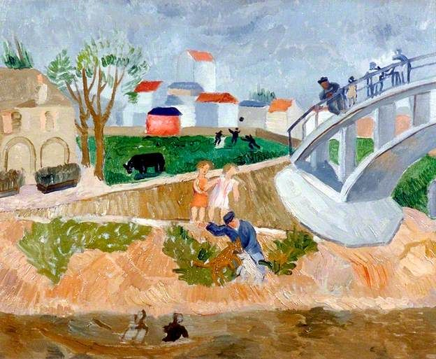 Bridge over the Seine (c.1921–1927) - One of Wood's early works.