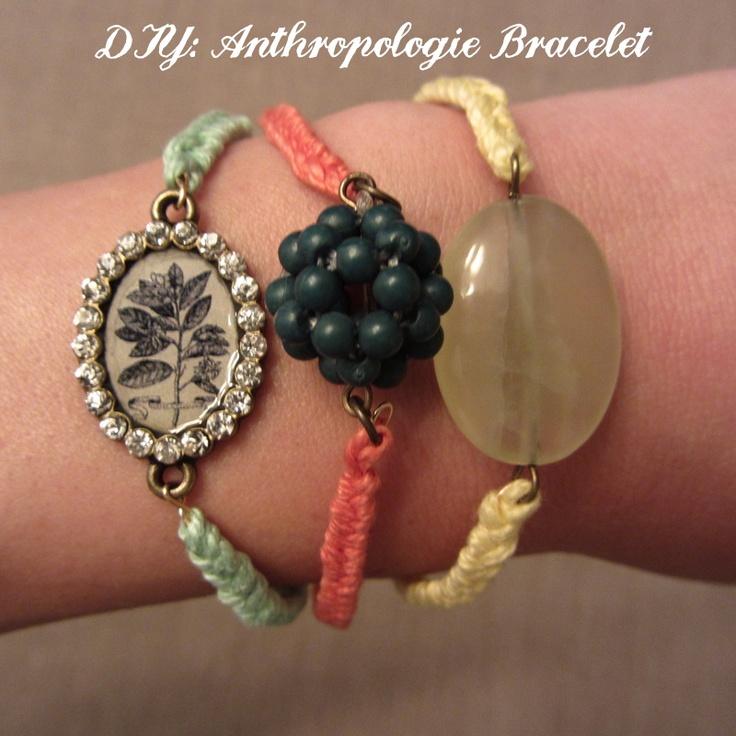 DIY: Anthropologie Bracelets, Linen, Lace, & Love