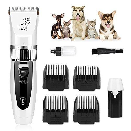 Oferta: 24.99€. Comprar Ofertas de GHB Kit de Cortapelos Profesionales para Perros Gatos Mascotas Esquiladoras Inalámbricas eléctricos Dogs Clippers Recargable  barato. ¡Mira las ofertas!