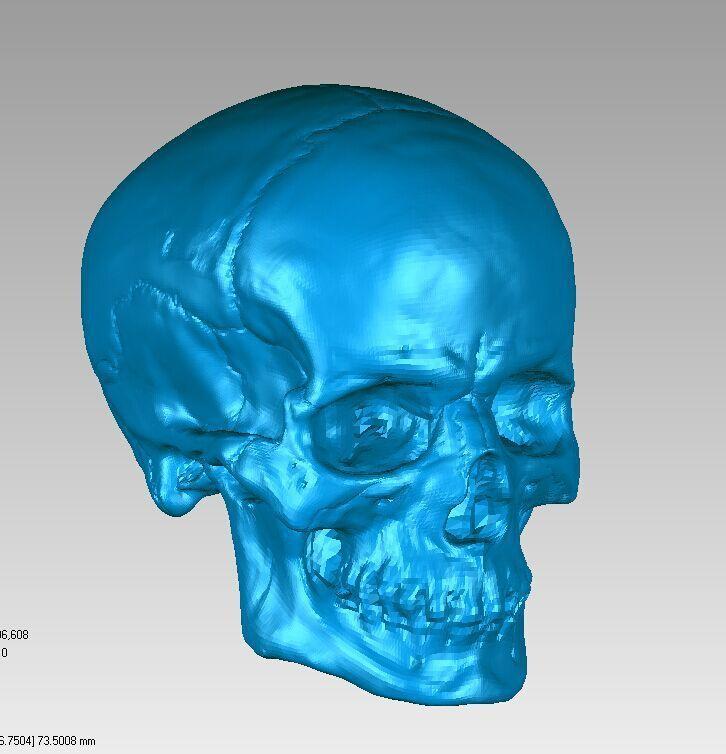 3D model for cnc 3D carved figure sculpture machine in STL file format Skull Head