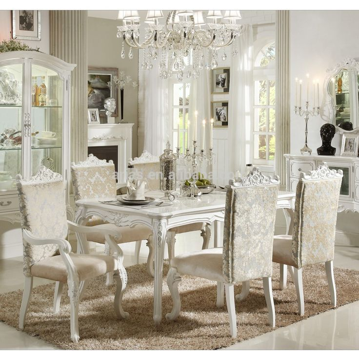 All White Dining Sets | Buy High Quality 577# Philippine Dining Table Setu2026