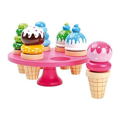 Legler 5854 - Coni gelato giocattolo con supporto