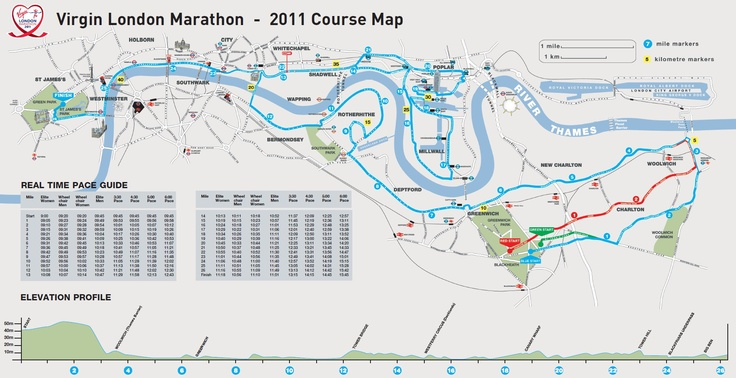 Virgin London Marathon Interactive Course Map. Try out the interactive map for closer real imaging of the course and any other useful information on race day.