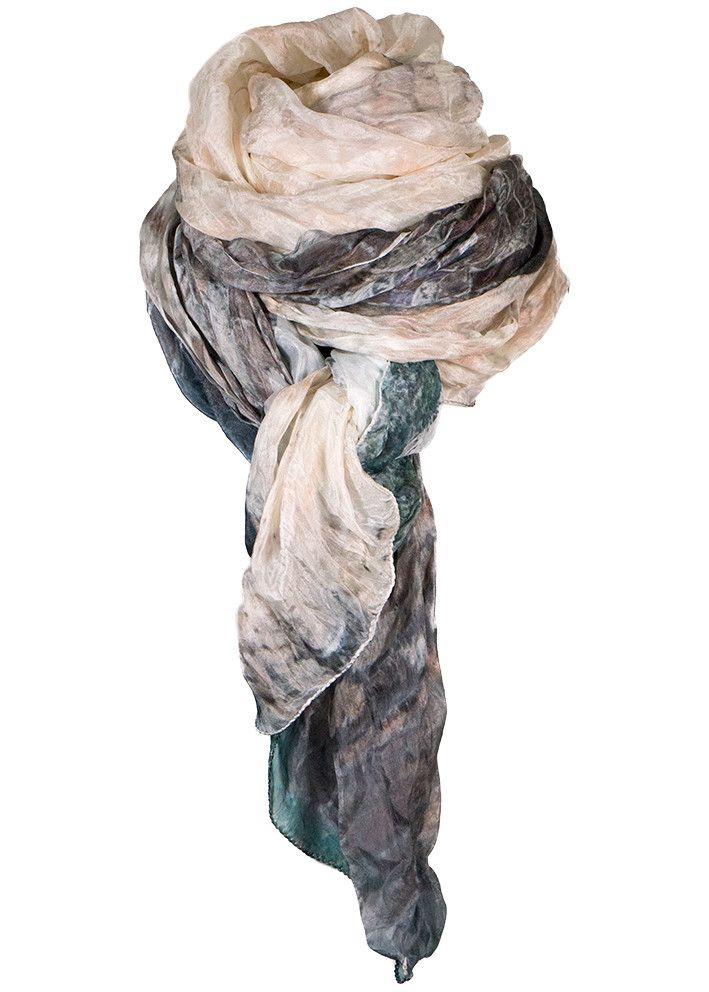 By Birdie Silketørklæde - Silk Art Scarf - Santo Stefano – Acorns