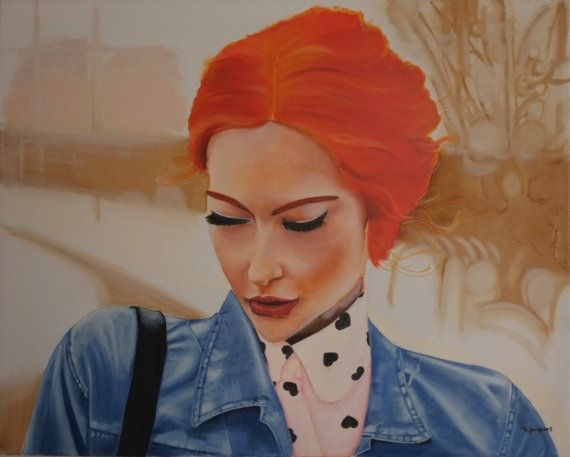 Original oil painting ''Red Hair'' by AmErgon on Etsy, $8000.00