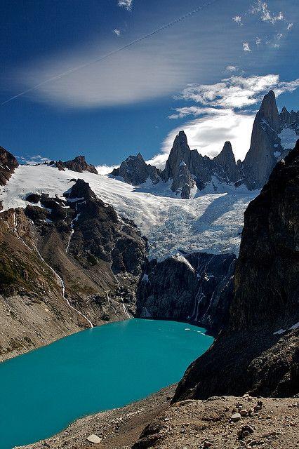Lago Sucio, near El Chalten, Santa Cruz, Argentina  anneharpur.tumblr.com