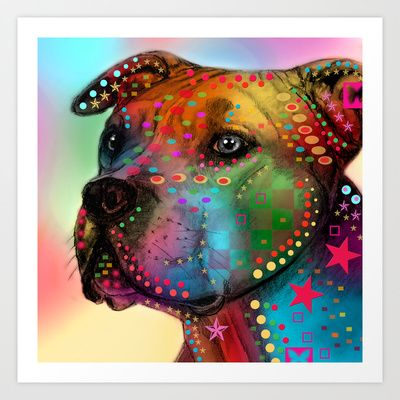 Buy pit bull by Mark ashkenazi as a high quality Art Print. Worldwide shipping available at Society6.com. Just one of millions of products available.