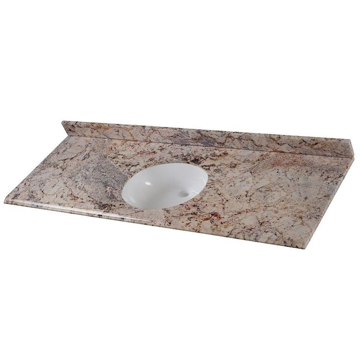 Home decorators collection 61 in stone effects oval for Home decorators vanity top
