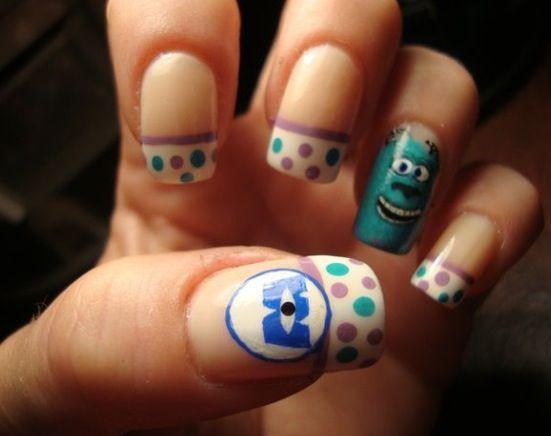 Monster inc nails