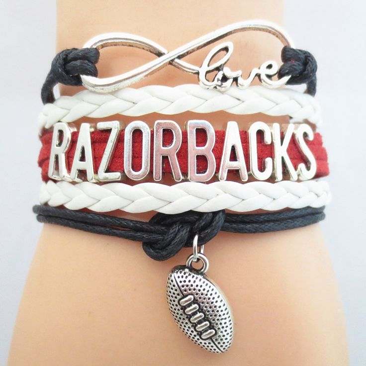 TODAY'S SPECIAL OFFER BUY 1 OR MORE, GET 1 FREE - $19.99! Limited time offer - Infinity Love Arkansas Razorbacks Football Team Bracelet on Sale. Buy one or more bracelets and we will give you one extr