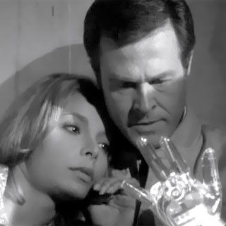 "The Outer Limits.  Demon With A Glass Hand.  Written by Harlan Ellison.   Staring Robert Culp and Arlene Martel (who would later play T'Pring, the betrothed ""wife"" of Mr. Spock on the Star Trek episode ""Amok Time."""