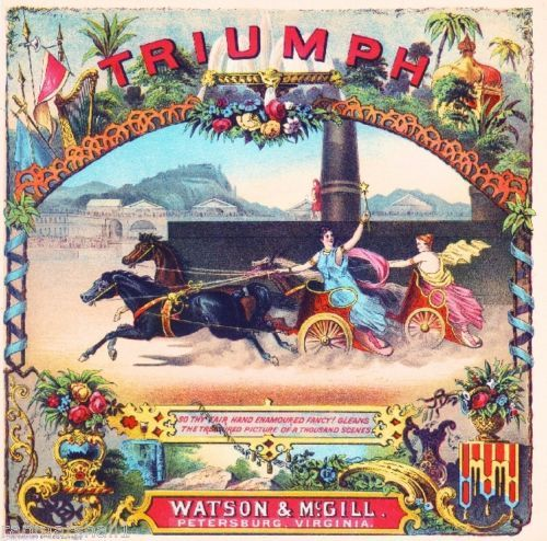 Virginia-Triumph-Roman-Chariot-Races-Tobacco-Crate-Box-Label-Art-Poster-Print