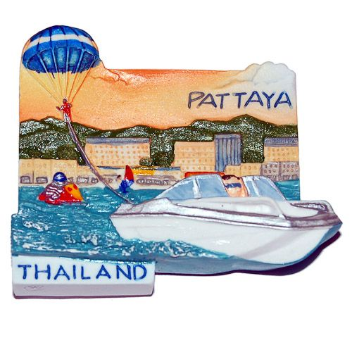 Resin Fridge Magnet: Thailand. Pattaya