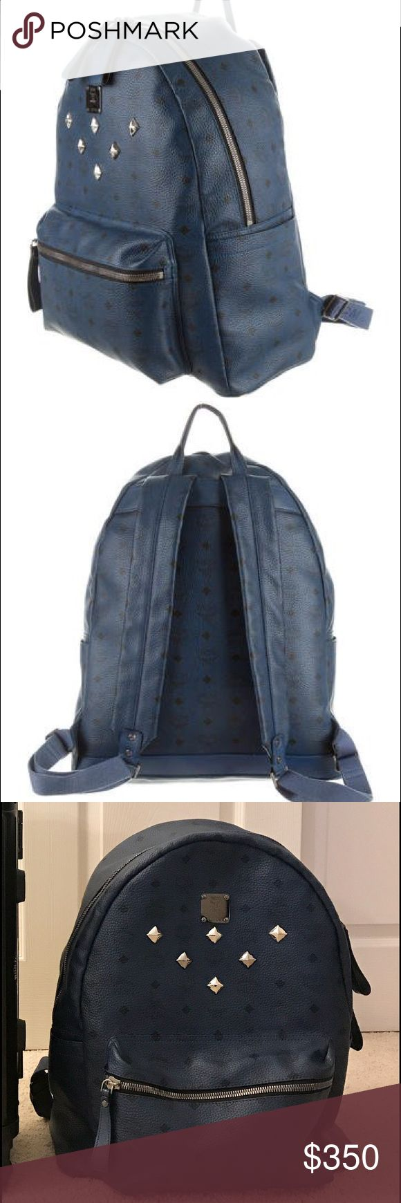 📘Authentic MCM Large Stark Backpack📘 -Size: 18 X 15 X 6 inches -Padded Laptop Compartment -Front zipped pocket -2 side flat pockets Perfect for School/Work/Travel 💎Mint Condition💎 Price is FIRM MCM Bags Backpacks
