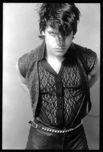 A young Glenn Danzig in a pretty lace shirt
