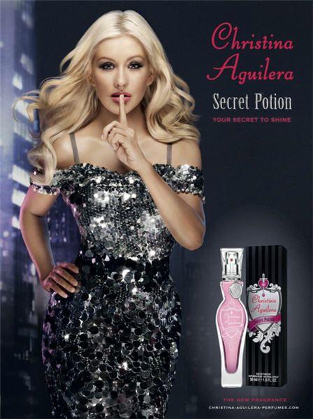 Christina Aguilera's Secret Potion commercial