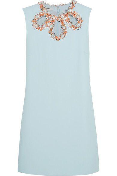 Miu Miu | Embellished cutout crepe dress | NET-A-PORTER.COM