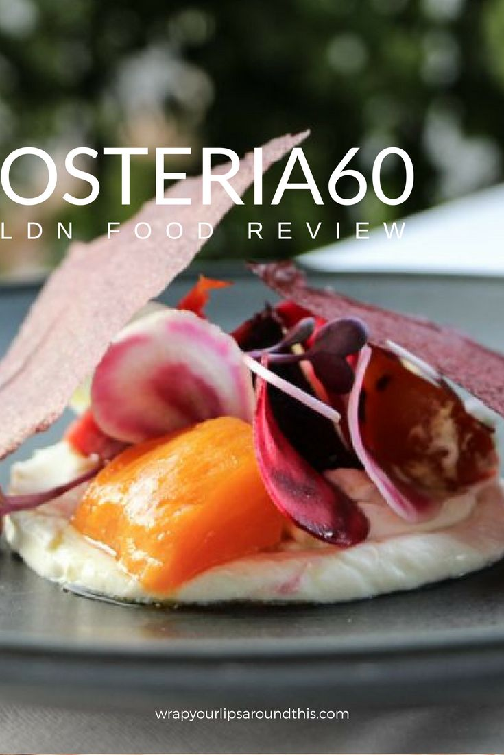 London Restaurant Review - Italian fine dining at Osteria 60 in London's glam High Street Kensington. Read more on wrapyourlipsaroundthis.com.