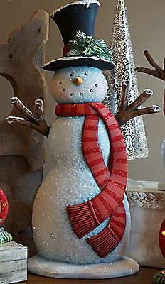Ceramic-Bisque-Ready-to-Paint-Tall-Snowman-17-5-034-tall