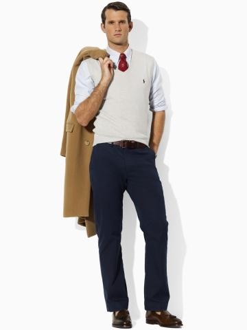 Polo, Ralph Lauren. Pima Cotton V-Neck Vest.