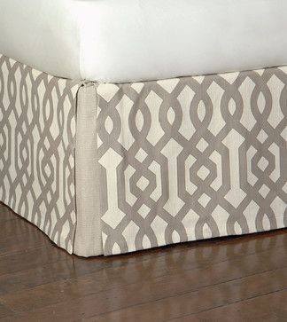 Rayland Bed Skirt - modern - bedskirts - other metro - Eastern Accents