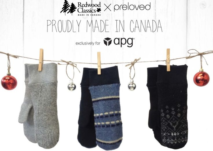 Score some beautiful #MadeInCanada mittens, handcrafted by us and designed by Preloved using vintage sweaters. You can get yours for the winter through the exclusive partnership with Accolade Promotion Group (APG) - check the flyer for more details! http://bit.ly/1tNcOak