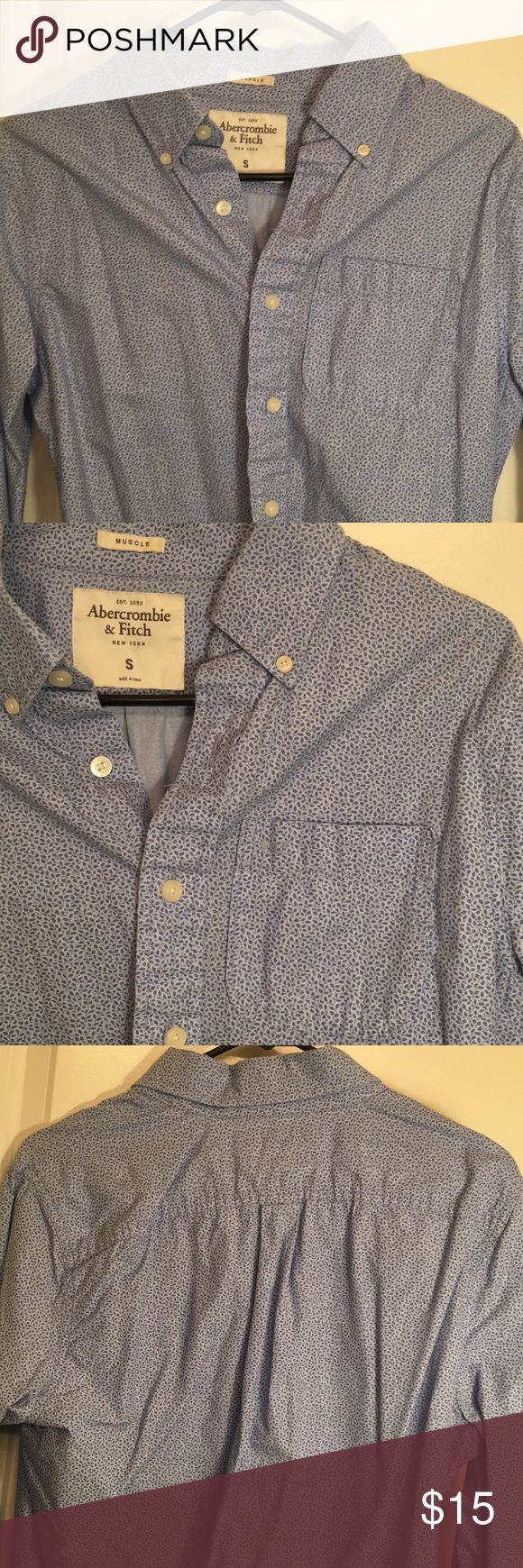 A&F Muscle Shirt Abercrombie & Fitch Muscle Dress Shirt Abercrombie & Fitch Shirts Casual Button Down Shirts