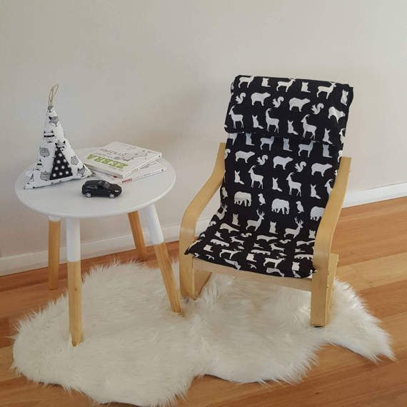 Children S Ikea Chair Coverslip Poang Cover Kids Cover Monochrome