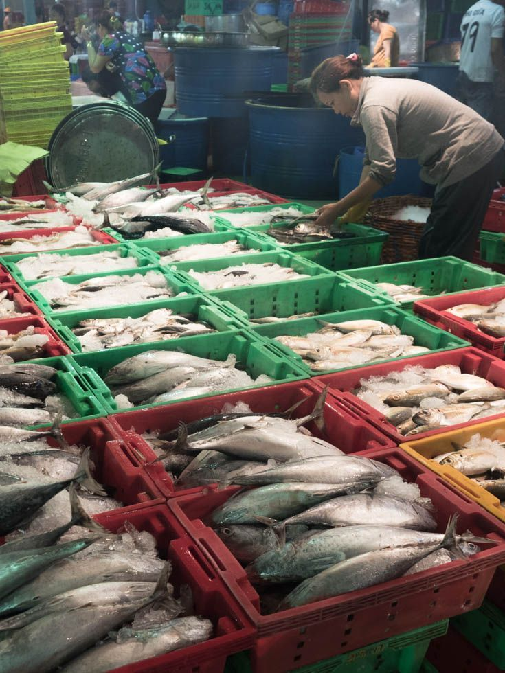 Take A Behind The Scenes Look At Vietnam S Largest Wholesale Seafood Market Vietnam Market Seafoodmarket Seafood Market Fresh Food Market Asian Street Food