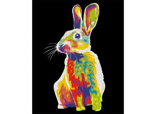 «Радужный кролик» Картина по номерам, картина-раскраска по номерам, раскраска по номерам, paint by numbers, купить картину по номерам - Zvetnoe.ru - картины по номерам, алмазная мозаика