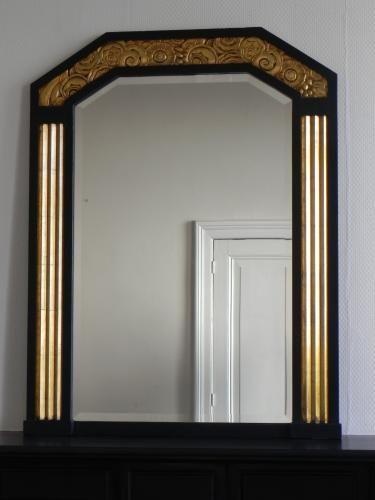 Miroir Art Déco avec Verre Biseauté, 1930s en vente sur Pamono
