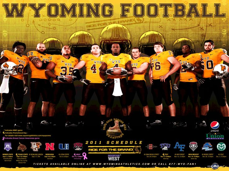 Wyoming Football Logo | Wyoming Football 2011 Football Schedule Poster