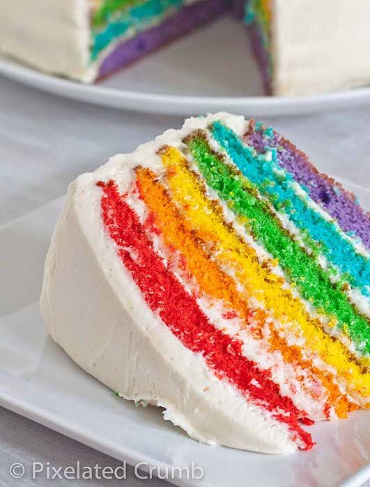 Resep Kue Rainbow Cake
