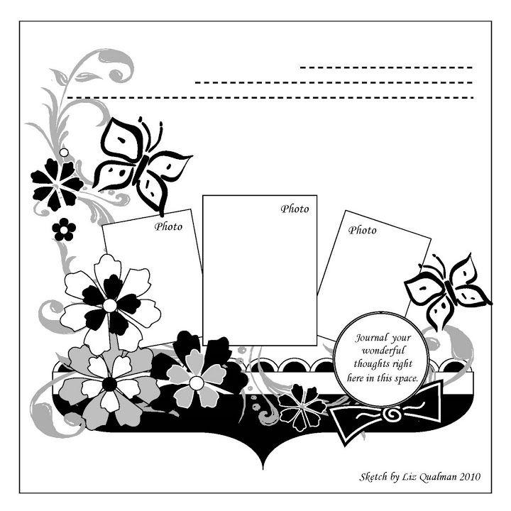 Scrapbook Sketch-3 photos
