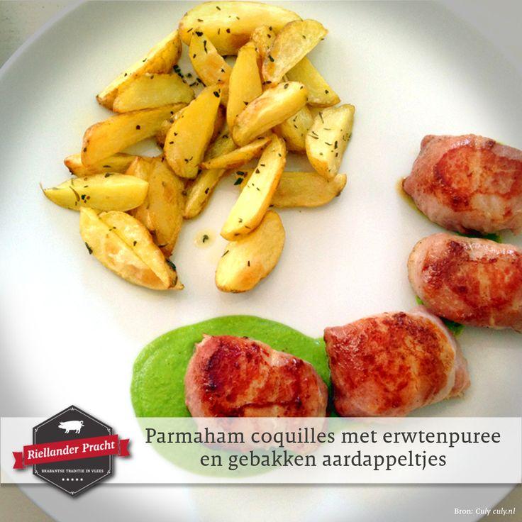 Wil je een keer een heel eenvoudig maar bijzonder voorgerecht aan je gasten serveren, dan is moet je dit recept echt eens proberen. Niet alleen lekker, maar met die smakelijke in parmaham gerolde coquilles op die groene gladde puree ook een plaatje. Alsof er een echte chef in de keuken heeft gestaan. ;-)  Voorgerecht recept: Parmaham coquilles met erwtenpuree  Check de site voor dit lekkere recept.