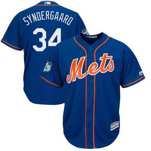 535985c2f18 ... MLB Jersey Mens New York Mets 34 Noah Syndergaard Royal Blue 2017  Spring Training Flex Base Baseball Jersey Chicago Cubs ...