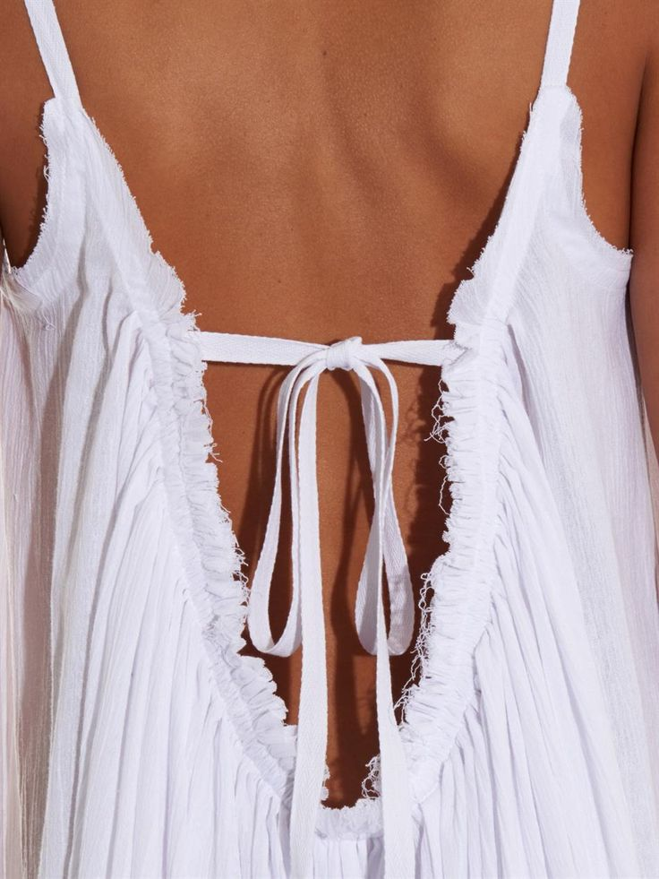 Loup Charmant Cotton-seersucker maxi dress