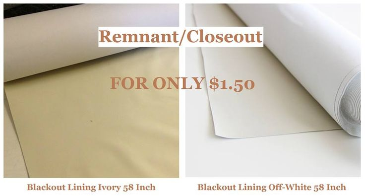 Remnant / Closeout Sale for 58 Inch Blackout Lining Fabric. Blackout refers to an opaque fabric used to black out light. Blackout fabrics are most commonly found in hotel rooms as #curtain linings or #drapery fabrics, #blocking much of the #light that would otherwise enter through a #window when the #curtains are closed. #thefabricexchange #fabric #sale #best #quality #remnant #design  #savings #closeout #blackout #lining #home #opaque #sew