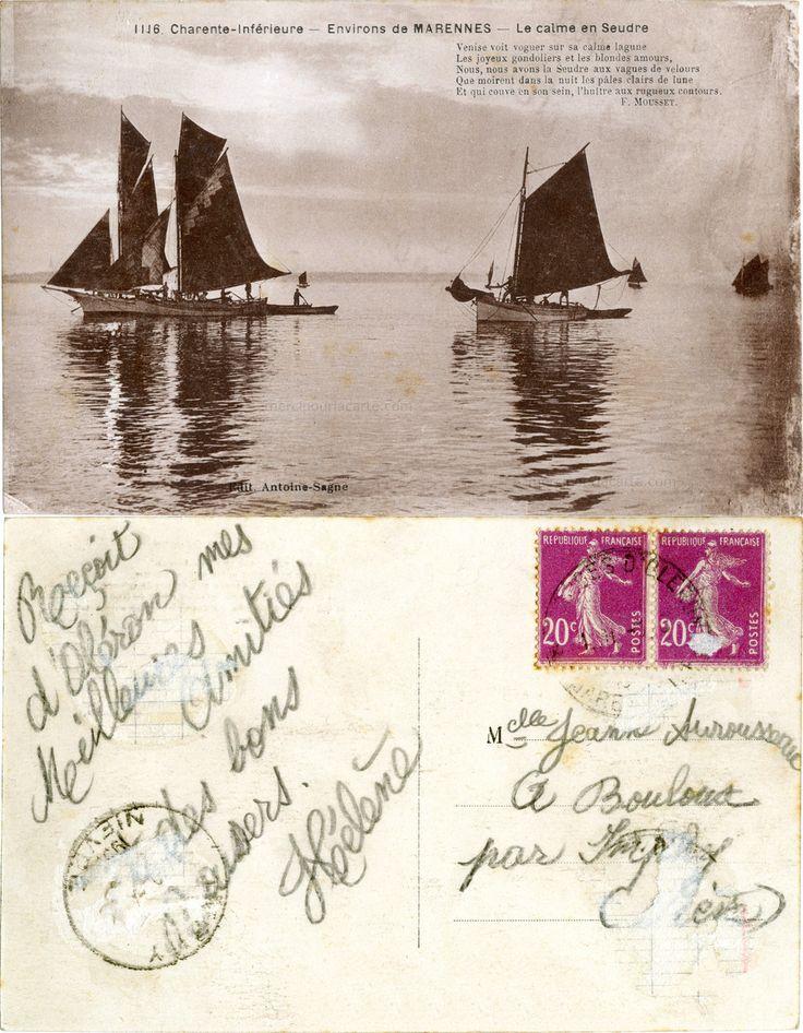 Environs de Marennes - Le calme en Seudre - 1933 (from http://mercipourlacarte.com/picture?/2020/)