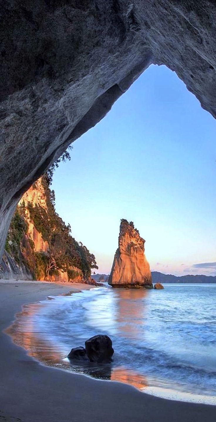 Early mornin hangs in Narnia - Te Hoho Rock, Cathedral Cove, NZ
